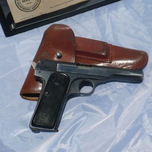 Belgian WWII .32 Pistol with Bringback Papers and Holster