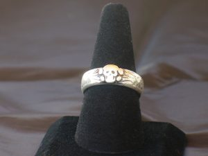 ss officer skull ring