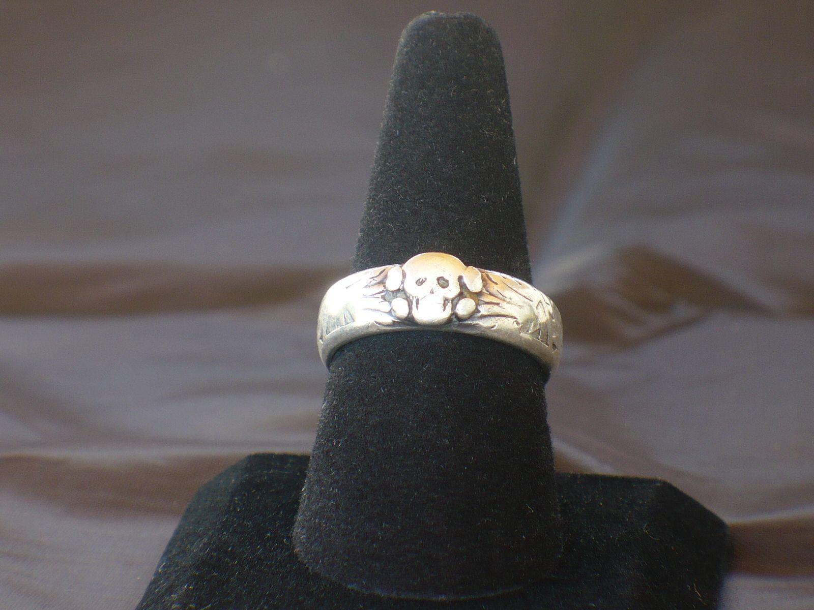ss officer skull ring